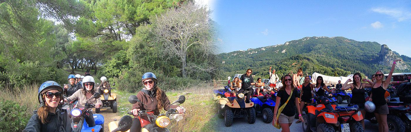 Quad Safari at the Pink Palace Hostel in Greece
